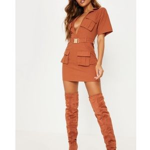 Rust colored suede thigh high boots sz 8